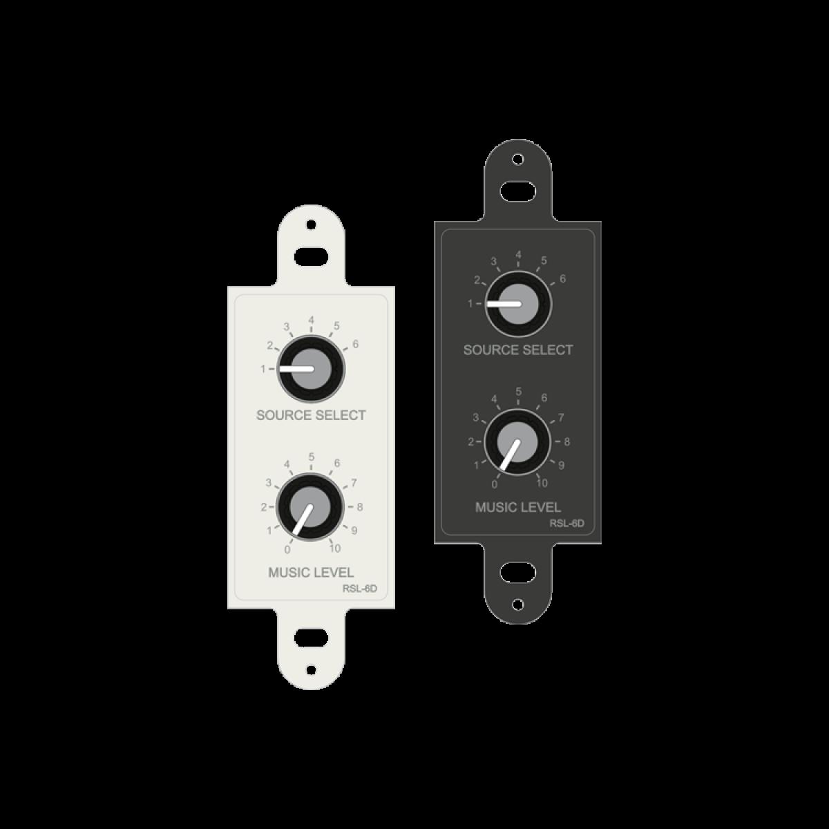 RSL-6DW & RSL-6DB USA Remote Source / Volume Level Select Plate (Decora)