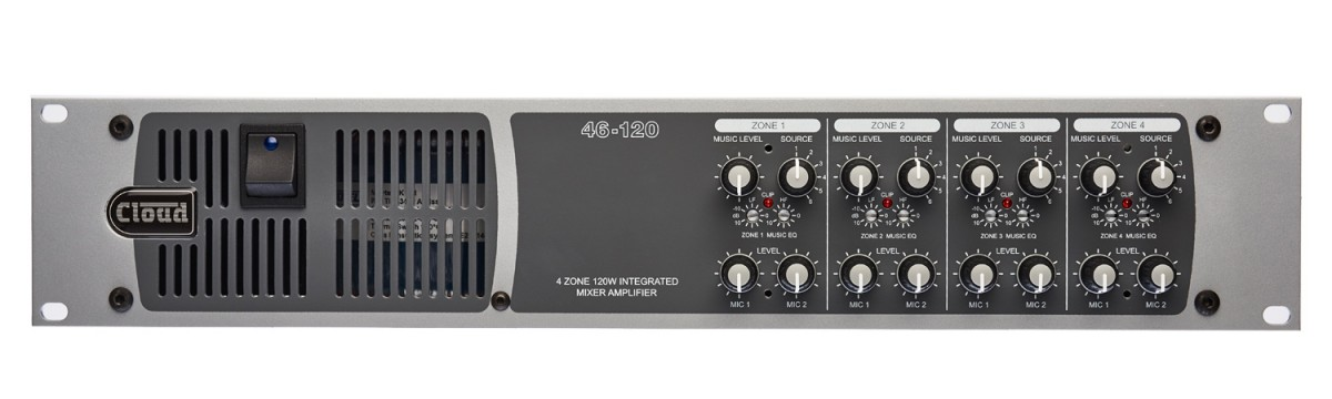 46-120 4 Zone Integrated Mixer Amplifier