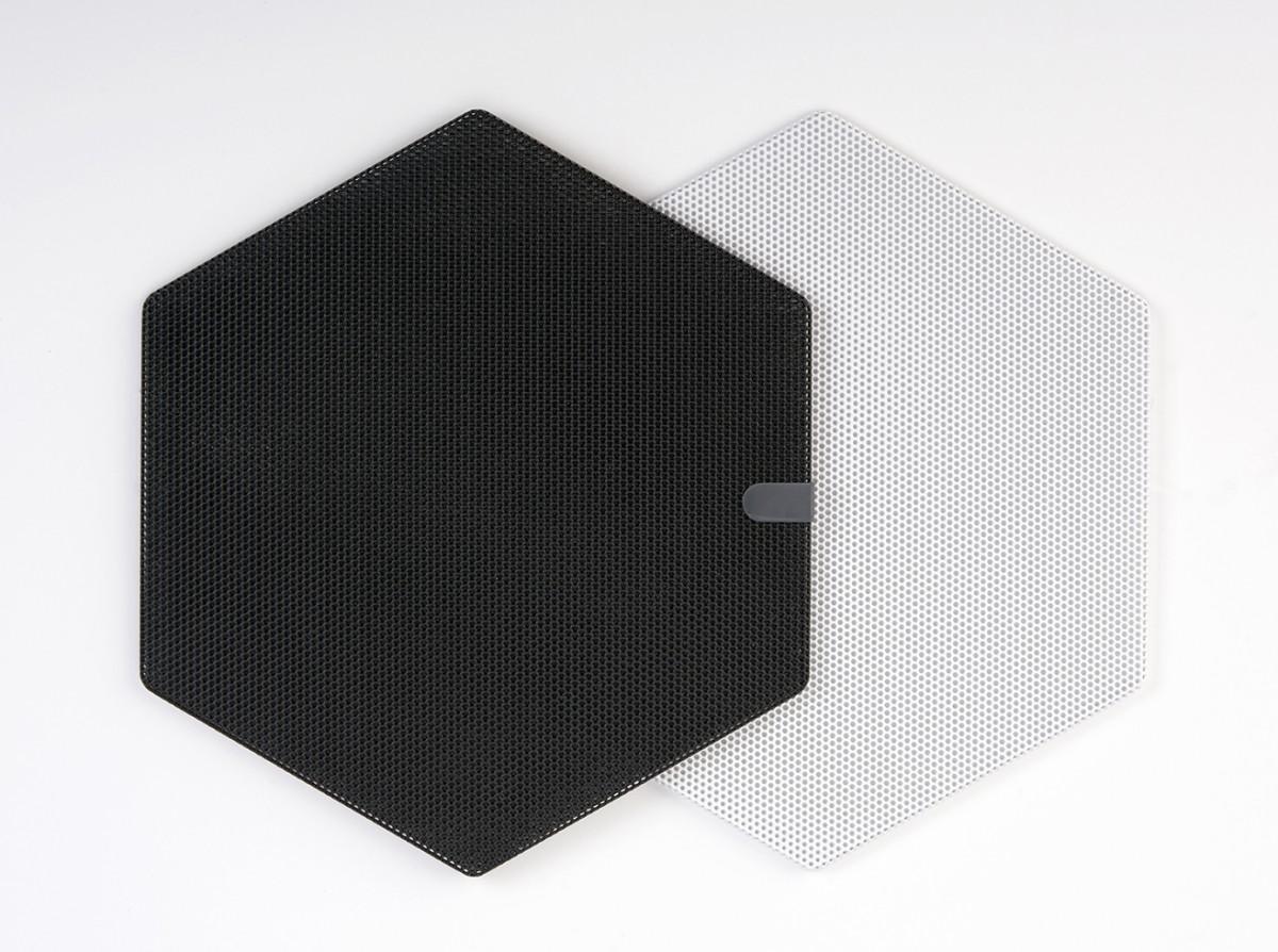 CS-3HEXGRILL-W & CS-3HEXGRILL-B Cloud Series 3 inch Hexagonal Grille