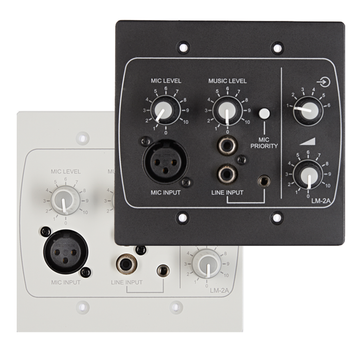 LM-2AW & LM-2AB USA Line/Mic/Remote Active Input Plate