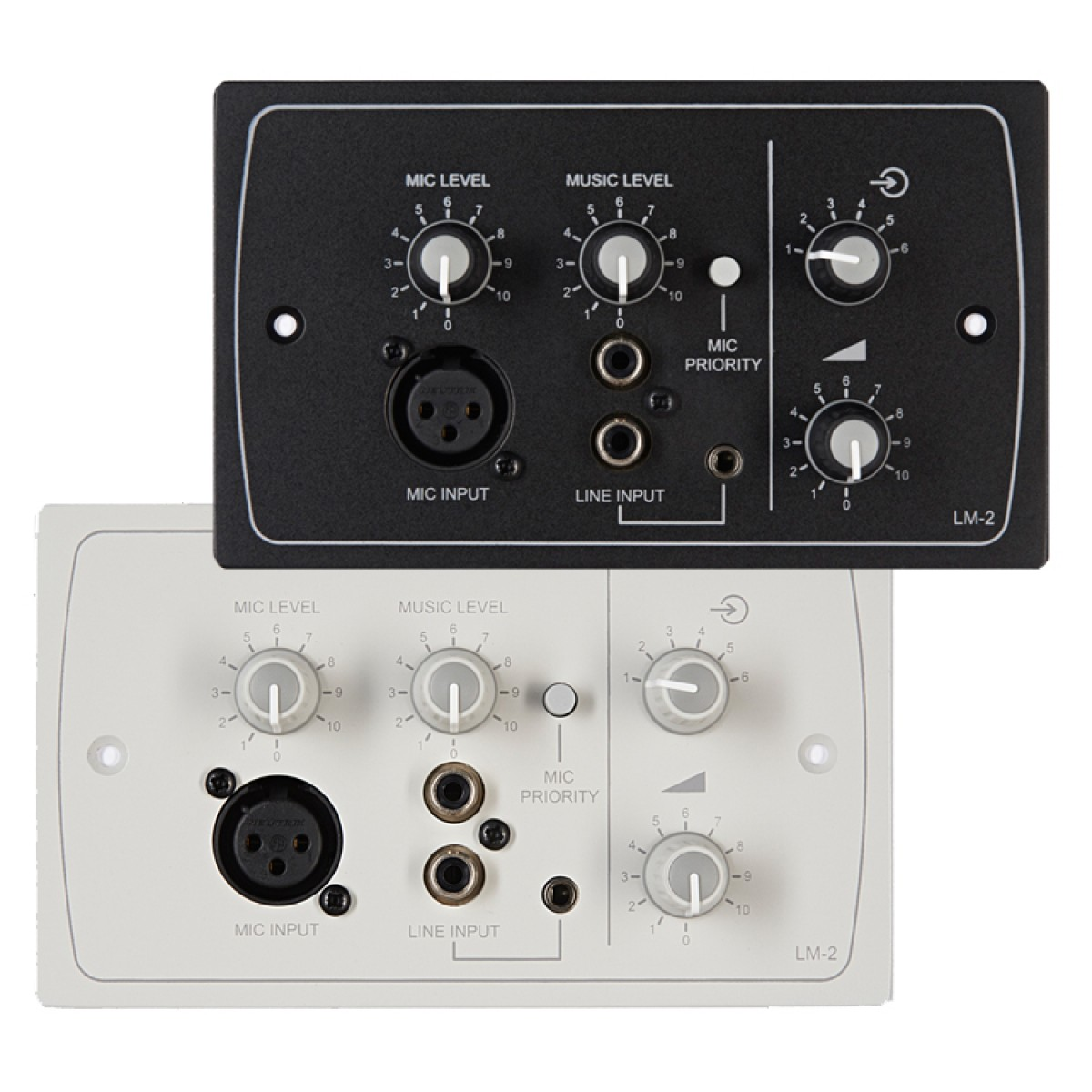 LM-2W & LM-2B Line/Mic/Remote Active Input Plate