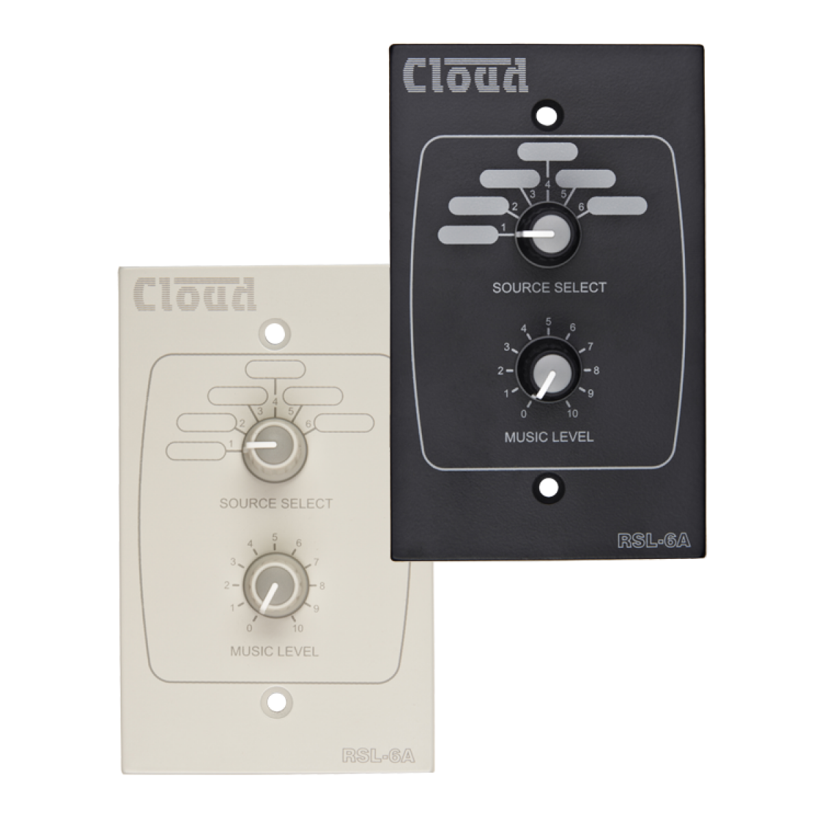RSL-6AW & RSL-6AB USA Remote Source / Volume Level Select Plate